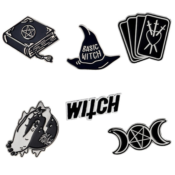 Witch Magic Pentacle Enamel Pins | Green Witch Creations - greenwitchcreations