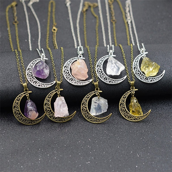 Moon Crystal Necklaces - Jewelry - Green Witch Creations - greenwitchcreations