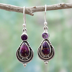Amethyst Earrings | Jewelry | Green Witch Creations - greenwitchcreations