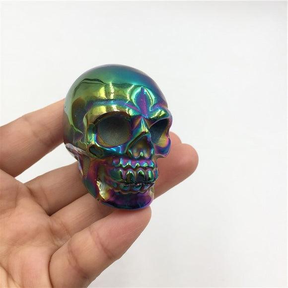 Rainbow Crystal Skulls | Green Witch Creations - greenwitchcreations