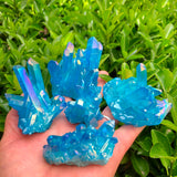 Blue Aura Quartz Crystals | Crystals & Stones | Green Witch Creations - greenwitchcreations