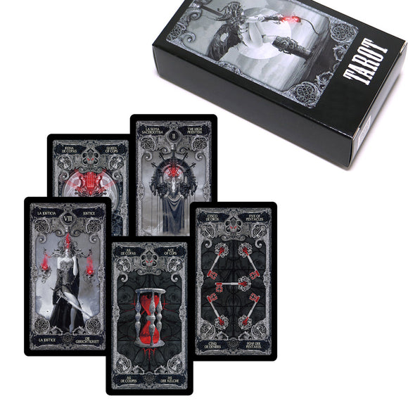 Dark Magic Gothic Tarot Deck and Guidebook - greenwitchcreations