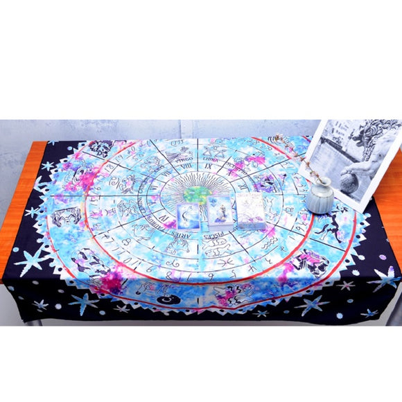 Colorful Astrology Tarot Alter Tablecloth - greenwitchcreations