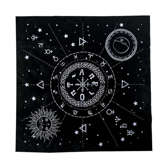 12 Constellations Astrology Tarot Alter Tablecloth - greenwitchcreations