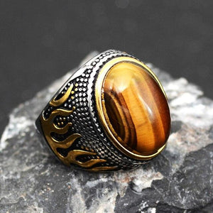 Stone Mens Rings | Men's Jewelry | Green Witch Creations - greenwitchcreations