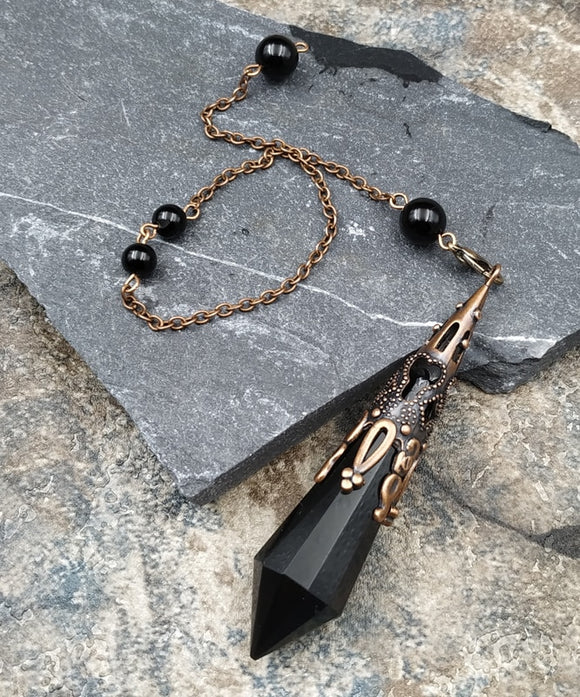Black Obsidian Design Pendulums | Green Witch Creations - greenwitchcreations