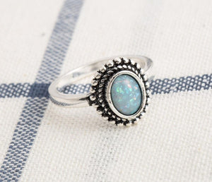 925 Silver Opal Ring - greenwitchcreations