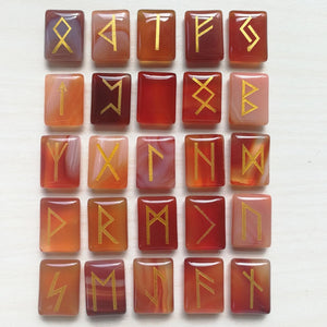 Carnelian Rune Sets | Runes | Green Witch Creations - greenwitchcreations