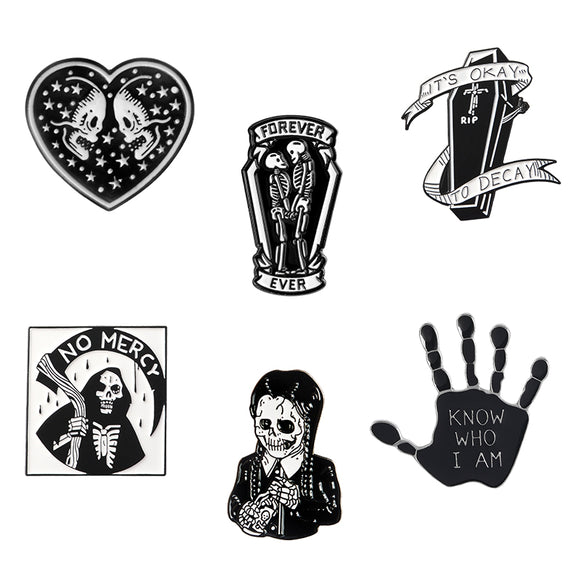 Gothic Enamel Pins | Green Witch Creations - greenwitchcreations