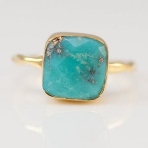 Gold Blue Stone Rings | Green Witch Creations - greenwitchcreations