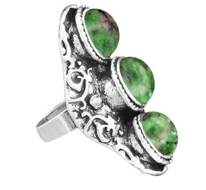 Triple Stone Rings - greenwitchcreations