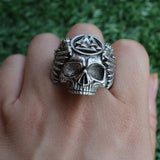 Skull Rings | Men's Jewelry | Green Witch Creations - greenwitchcreations