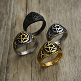 Pentacle Rings For Men - greenwitchcreations