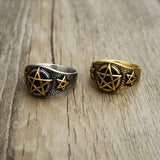 Pentacle Rings For Men | Wiccan Jewelry | Green Witch Creations - greenwitchcreations