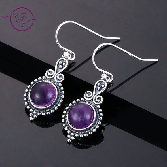 925 Silver Amethyst Earrings - greenwitchcreations