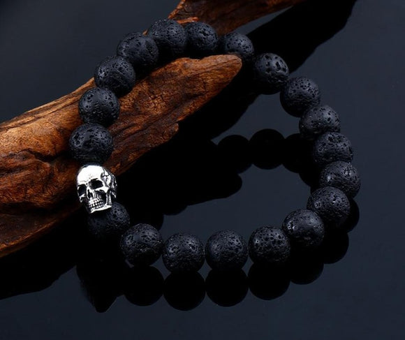 Skull Lava Rock Bracelet | Jewelry - greenwitchcreations
