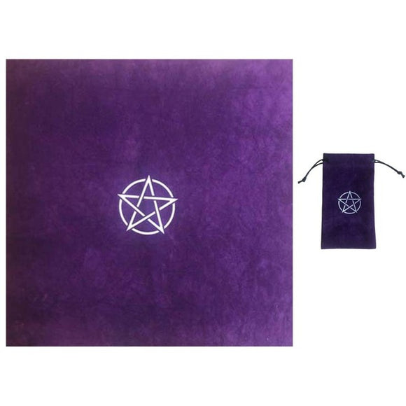 Pentacle Tarot Cloth and Bag | Green Witch Creations