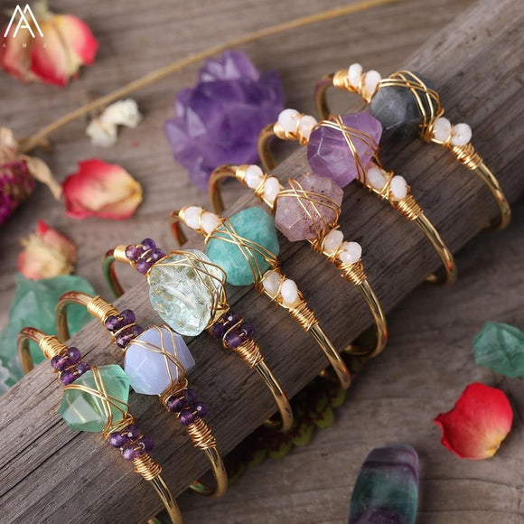 Wire Wrap Crystal Bracelets For Sale - greenwitchcreations