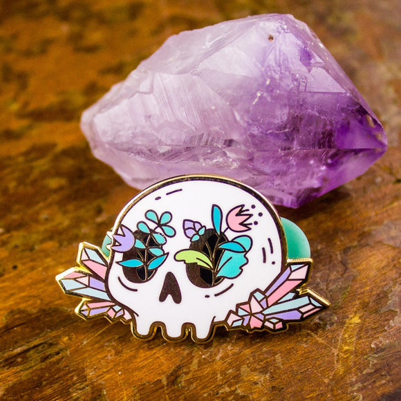 Crystal Skull Pins - greenwitchcreations