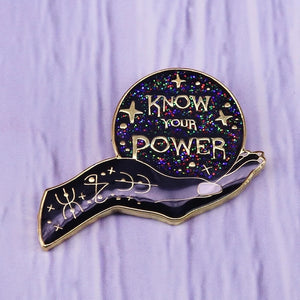 Know Your Power Crystal Ball Pins - greenwitchcreations