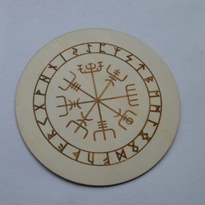 Wood Round Altar Tiles | Witchcraft Supplies - greenwitchcreations