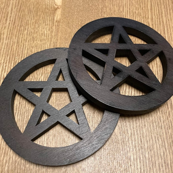 Wood Pentagram Altar Tools | Witchcraft Supplies - greenwitchcreations