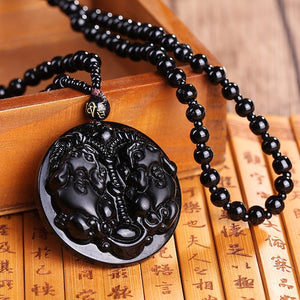Obsidian Carved Necklaces | Necklaces | Green Witch Creations - greenwitchcreations