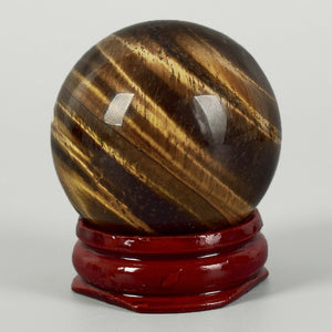 Tigers Eye Crystal Spheres - greenwitchcreations