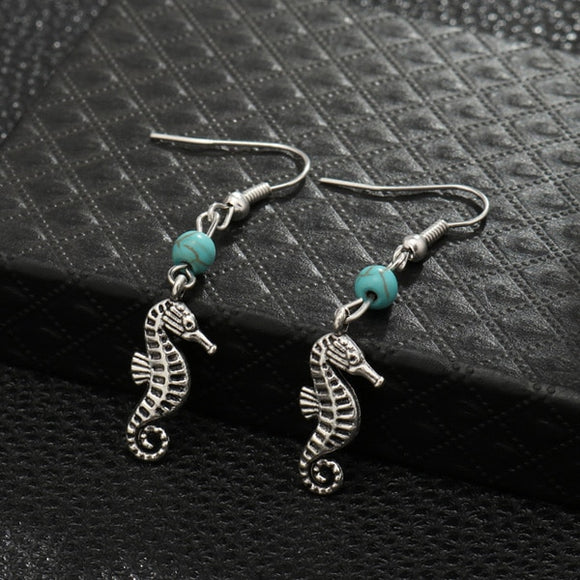 Turquoise Charm Earrings | Jewelry | Green Witch Creations - greenwitchcreations