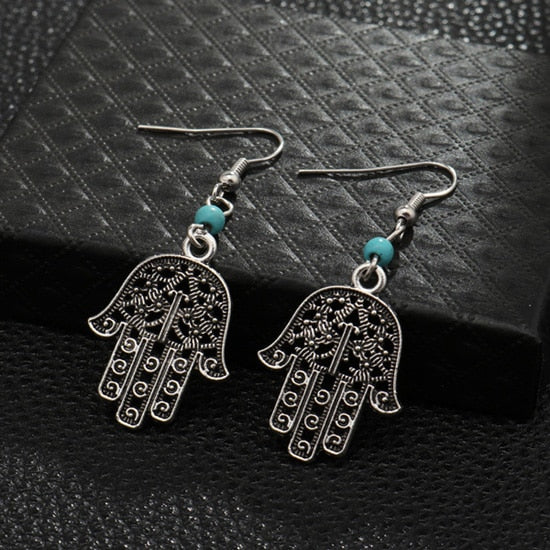 Turquoise Charm Earrings - greenwitchcreations