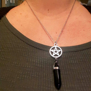 Pentacle Crystal Necklaces | Wiccan Jewelry | Green Witch Creations - greenwitchcreations