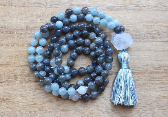 Labradorite Mala Prayer Necklace | Green Witch Creations - greenwitchcreations