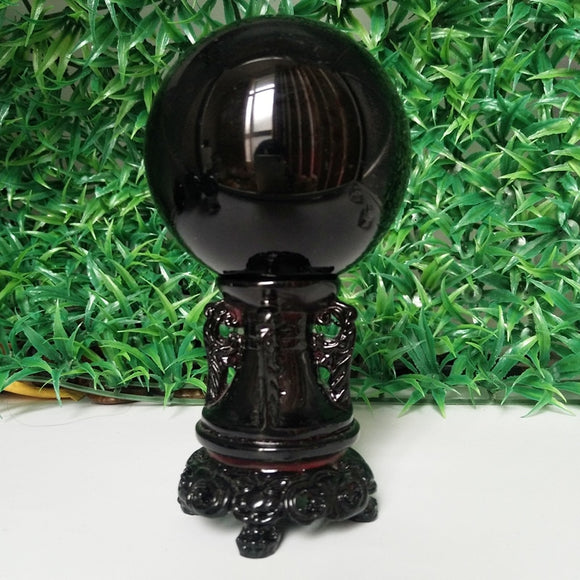 Obsidian Crystal Ball - greenwitchcreations