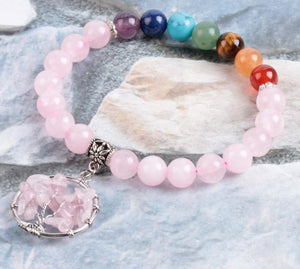 Rose Quartz Bracelets | Green Witch Creations - greenwitchcreations