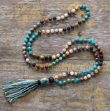 Stone Mala Prayer Necklaces - greenwitchcreations