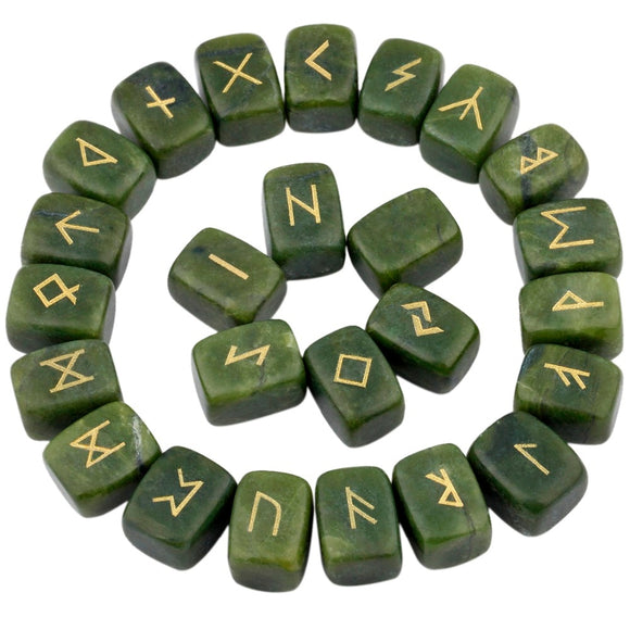 Green Jade Rune Sets | Green Witch Creations - greenwitchcreations