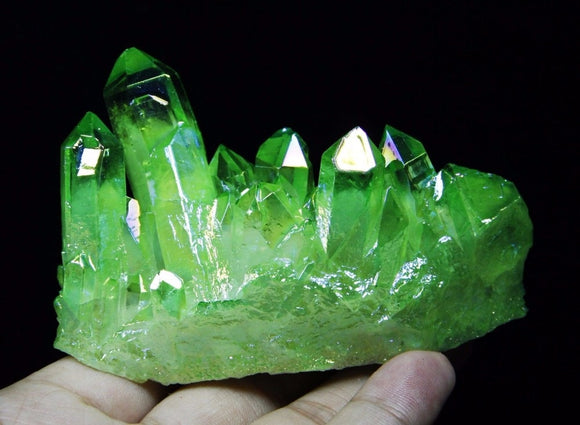 Green Aura Quartz Crystals | Green Witch Creations - greenwitchcreations