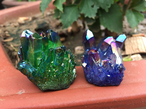 Flame Aura Quartz Crystals | Crystals & Stones | Green Witch Creations - greenwitchcreations