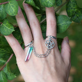 Crystal Pentacle Rings | Wiccan Jewelry | Green Witch Creations - greenwitchcreations
