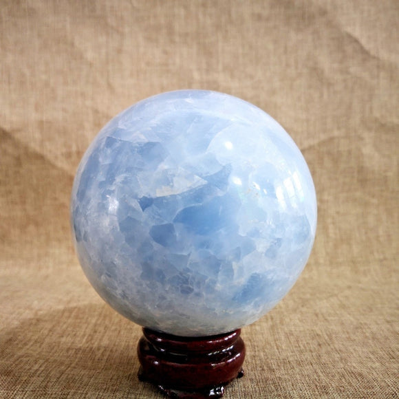 Celestite Crystal Ball - greenwitchcreations