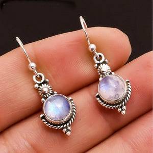 Silver Moonstone Earrings - greenwitchcreations