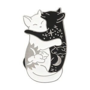 Kitty Skull Enamel Pins | Green Witch Creations - greenwitchcreations