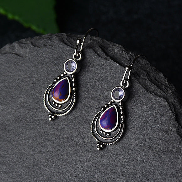 925 Sterling Silver Amethyst Earrings - greenwitchcreations