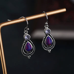 Amethyst Sterling Silver Earrings | Jewelry | Green Witch Creations