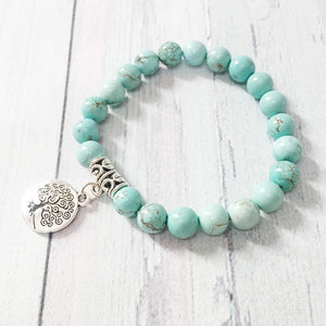 Turquoise Stone Bracelets | Jewelry | Green Witch Creations - greenwitchcreations