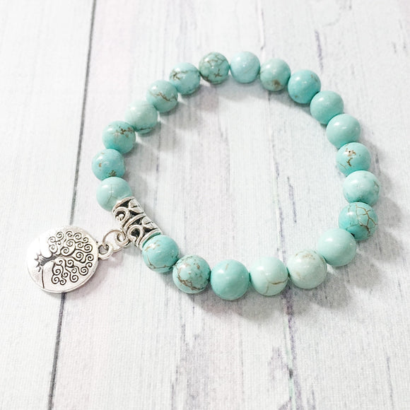 Turquoise Stone Bracelets - greenwitchcreations