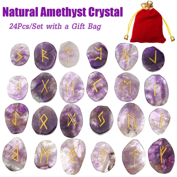 Amethyst and Onyx Runes - greenwitchcreations