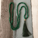Malachite Mala Prayer Necklaces | Prayer Beads | Green Witch Creations - greenwitchcreations