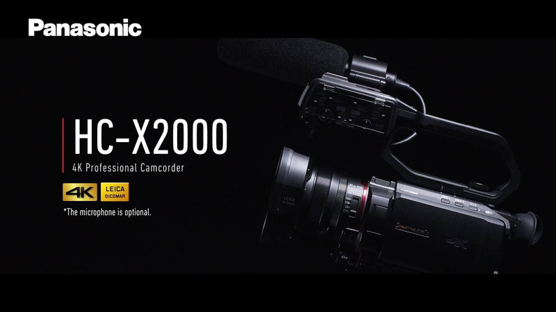 Panasonic Panasonic HC-X2000E (HCX2000E) 4K 60p Camcorder. Industry's Smallest and Lightest 4K/60p Camcorder Professional shooting everywhere: HC-X2000 packs advanced functions in a well-balanced body