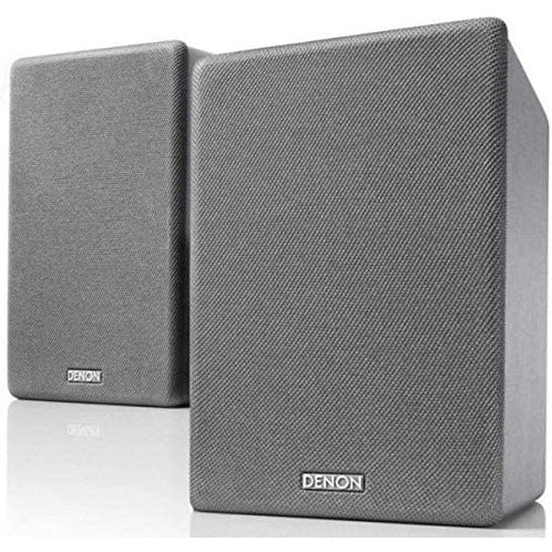 Denon SCN10 Speakers, Two-Way HiFi Speakers for TV Sound System, 2x 65W, Compatible with Receivers & Amplifiers, Elegant Design - Black SCN10BKEM